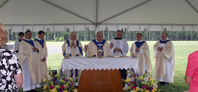 Bishop Galante celebrates Mass at All Saints Cemetery