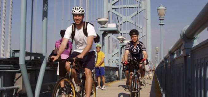 Xtreme Bikers Association cross the Benjamin Franklin Bridge
