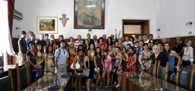 In Italy, a warm welcome for high school group