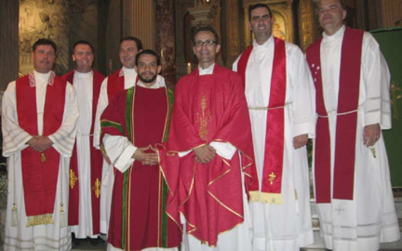 David Rivera ordained a transitional deacon in Rome