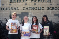 Bishop McHugh students collect supplies for animal shelter