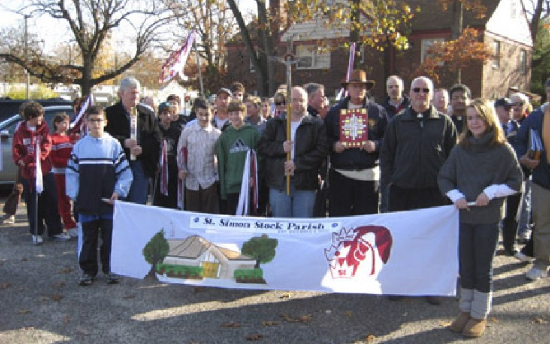 Parishioners of new parish take a 'Walk of Faith'
