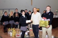 SJHS Hammonton, makes donation to food bank
