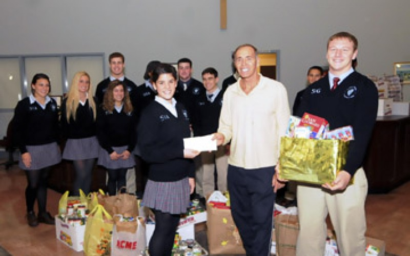 SJHS Hammonton, makes donation to food bank