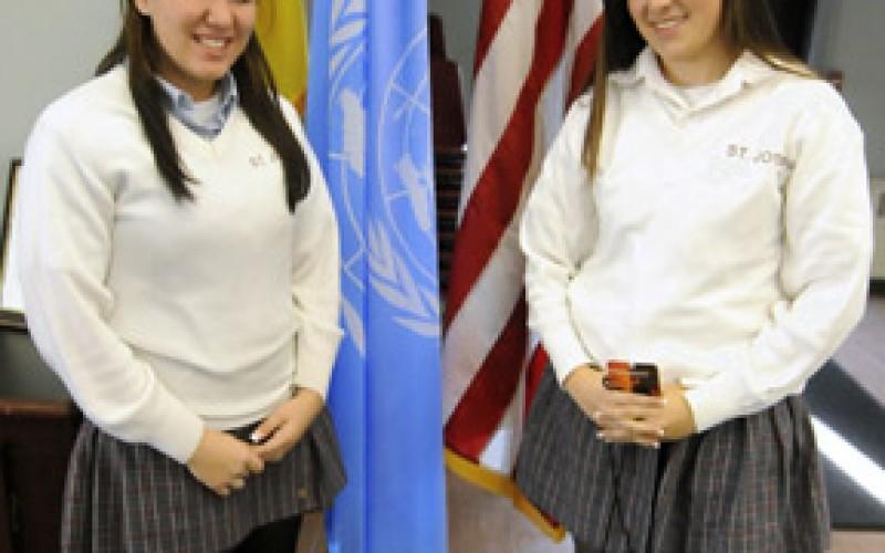 School serves as videoconference site for U.N. program