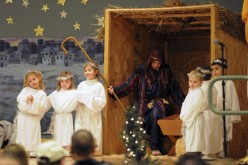 Christmas play at Assumption, Galloway