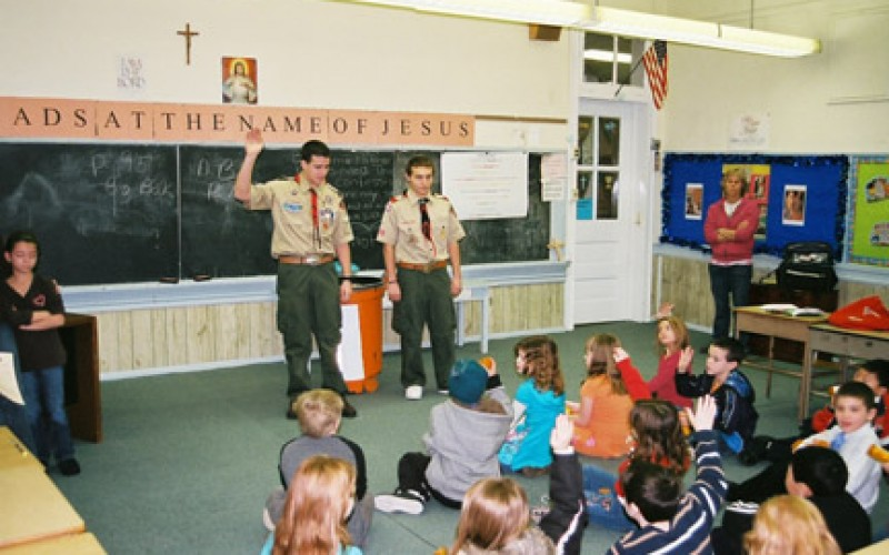 Scout educates community about the 'Vial of Life'