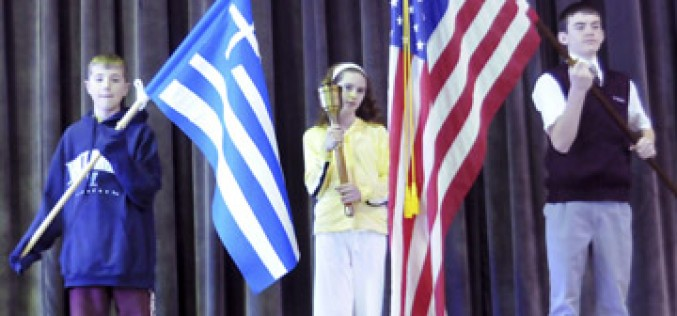 School holds its own Olympics Opening Ceremony, with an authentic torch