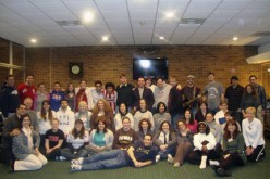 Young adults on retreat, snowbound and faith-filled