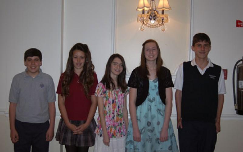 Diocesan scholarship recipients