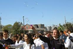 Blowing bubbles for autism