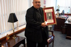 Bishop Galante honored by Catholic Press Association
