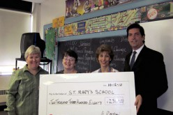 PSEG presents check  to St. Mary School, Gloucester City