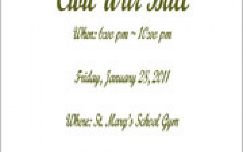 St. Mary School Civil War Ball