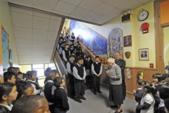Students create a Centennial Mural at Atlantic City school