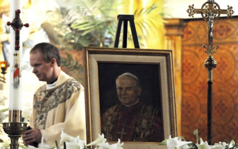 Honoring Blessed Pope John Paul II far from Rome