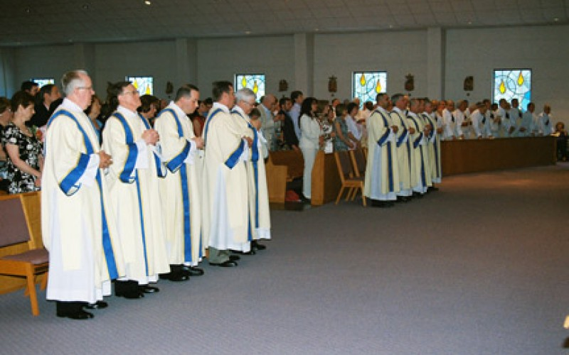 Bishop Galante ordains 10 men to the diaconate