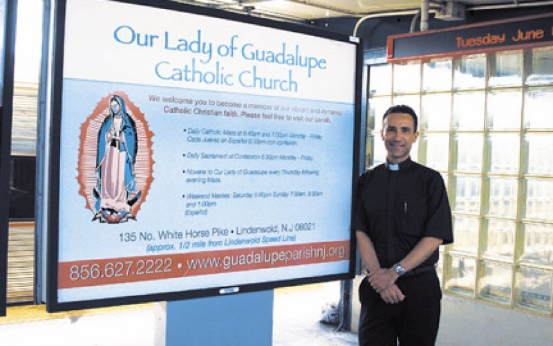 The message: Please feel free to visit our parish