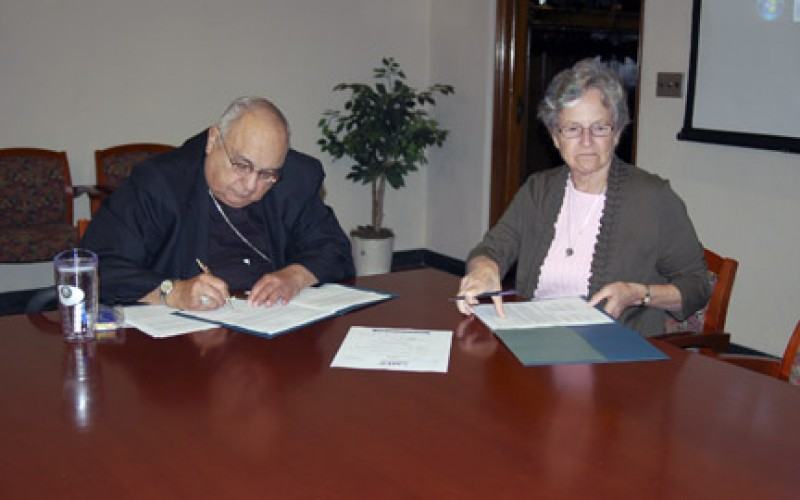 Diocese formalizes partnership with St. Joseph's College
