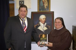 Portrait of Commodore John Barry presented to school