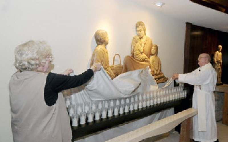Relief Sculpture dedicated at prayer service