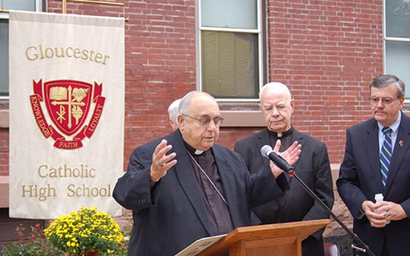 Bishop Galante re-dedicates St. Mary's building