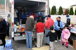 Parish sites serve as storm relief distribution sites