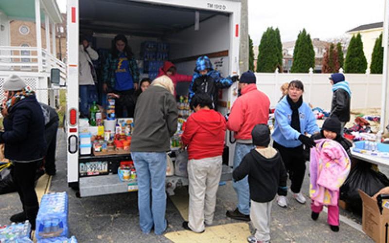 Parish sites serve as storm relief distribution sites