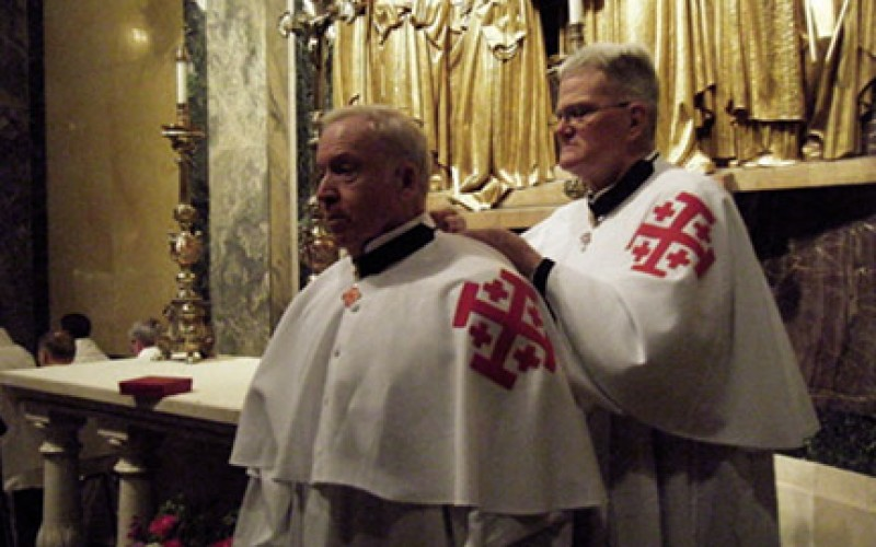 Father Betz joins the Equestrian Order of the Holy Sepulchre