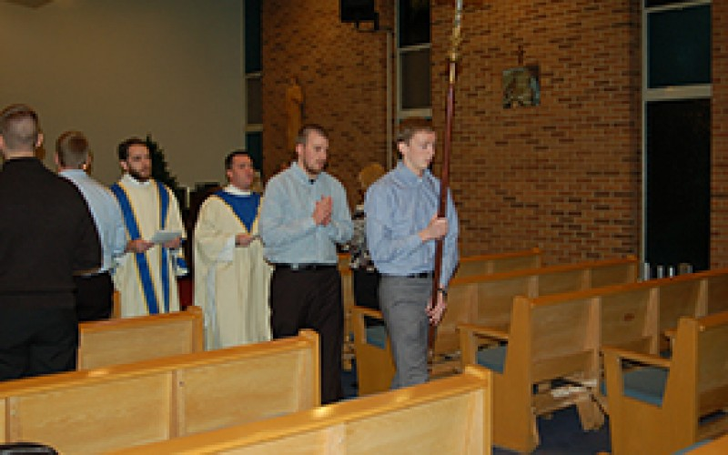 Seminarians' Christmas Mass with the bishop