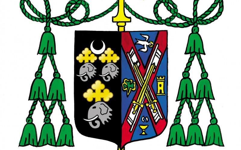 The Coat of Arms of The Most Reverend Dennis J. Sullivan, D.D. Bishop of Camden