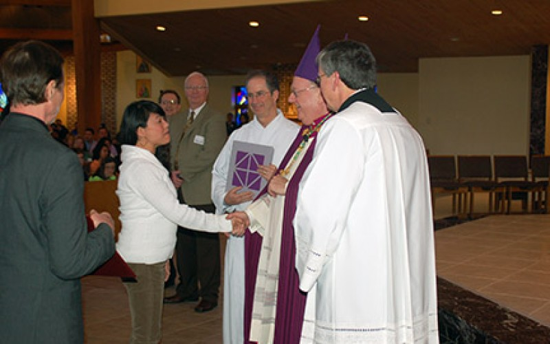 Faith is a journey, bishop says at Rite of Election