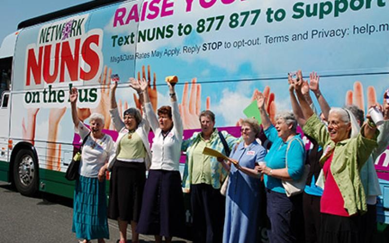 The nuns' bus stops in Camden