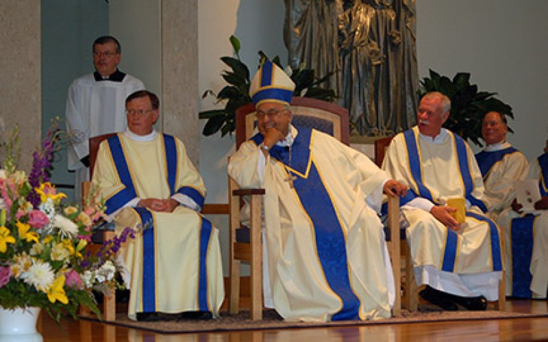 Bishop Galante celebrates his 50th and 75th
