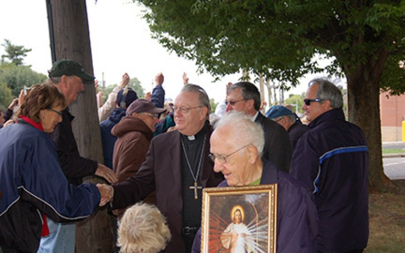 Bishop Sullivan leads rosary at Cherry Hill clinic