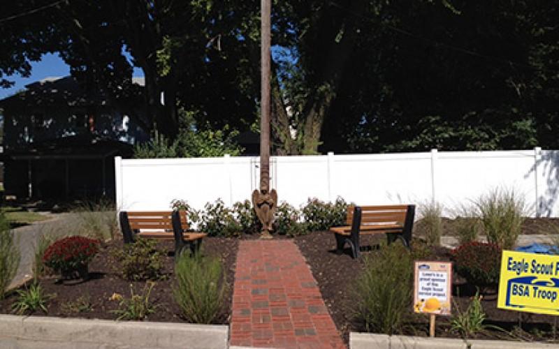 Scout creates parish memorial garden