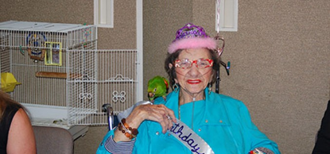 Adele Schlossberg, birthday queen