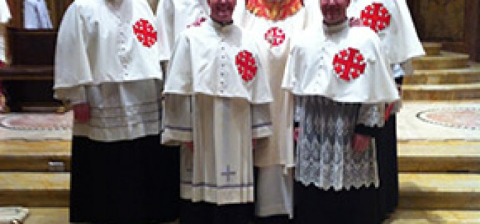 Priests installed as Knights of the Holy Sepulchre