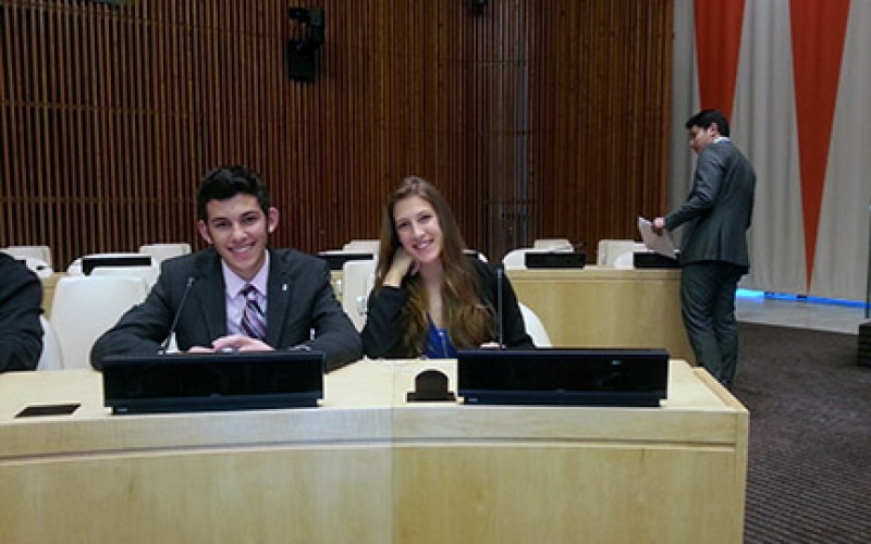 St. Joseph students attend forum at the United Nations