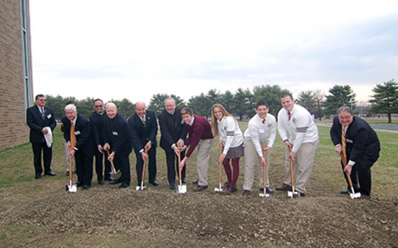 Gloucester Catholic breaks ground for athletic complex