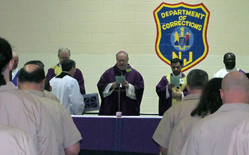 Bishop celebrates Mass at South Woods State Prison