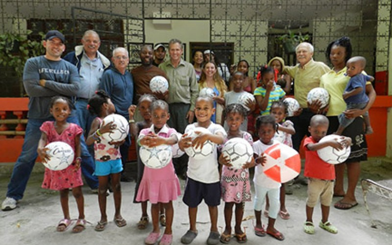 A mission to deliver soccer balls to children in Haiti