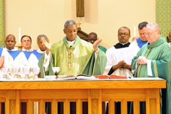 Cardinal Langlois of Haiti celebrates Mass in Galloway