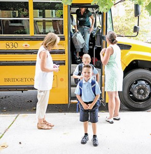 Photo by Alan M. Dumoff The first day of school at St. Vincent de Paul School, Mays Landing.