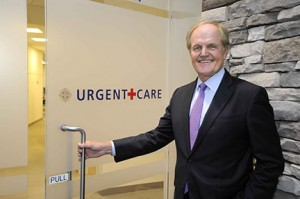 Alexander J. Hatala, president and chief executive officer, Lourdes Health System, is pictured at Lourdes new urgent care center in Cherry Hill.