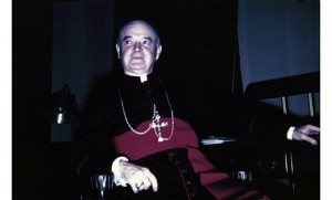 Bishop Bartholomew J. Eustace, Camden's first bishop, led the diocese 1938-56. Right, the bishop before his ordination in 1914.