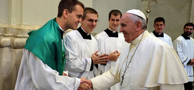 Being the miter bearer for Pope Francis
