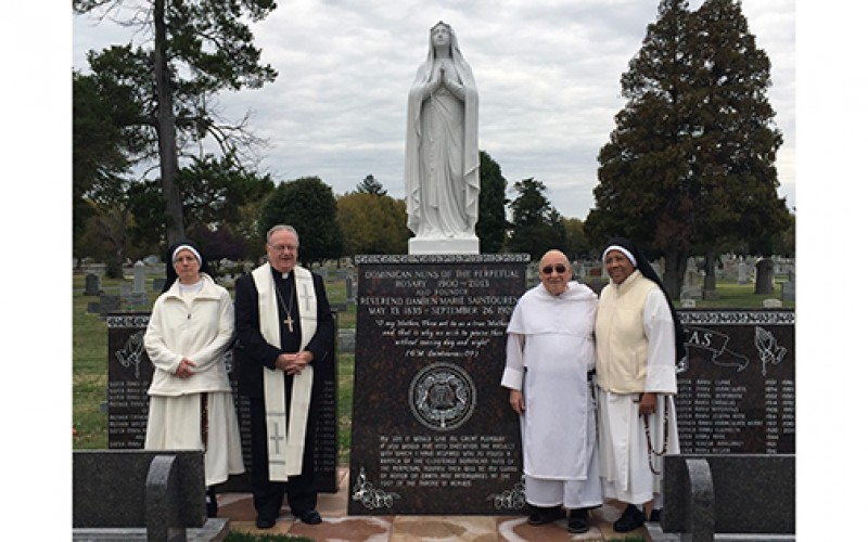 Monument to members of Perpetual Rosary Monastery