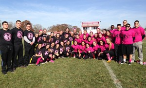 In the days leading up to Thanksgiving, several Camden Diocesan high schools held their annual Powder Puff Football Game. Junior and senior girls from St. Joseph, Hammonton (top); Gloucester Catholic (bottom left); and Camden Catholic, Cherry Hill (bottom right) battled each other on the gridiron and raised money for charity.