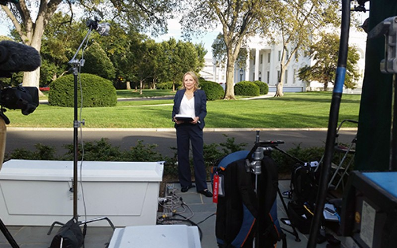 Reporting on the White House for EWTN